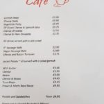 The courtyard cafe menu pastries and pasty