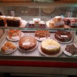 Cake selection at the courtyard cafe