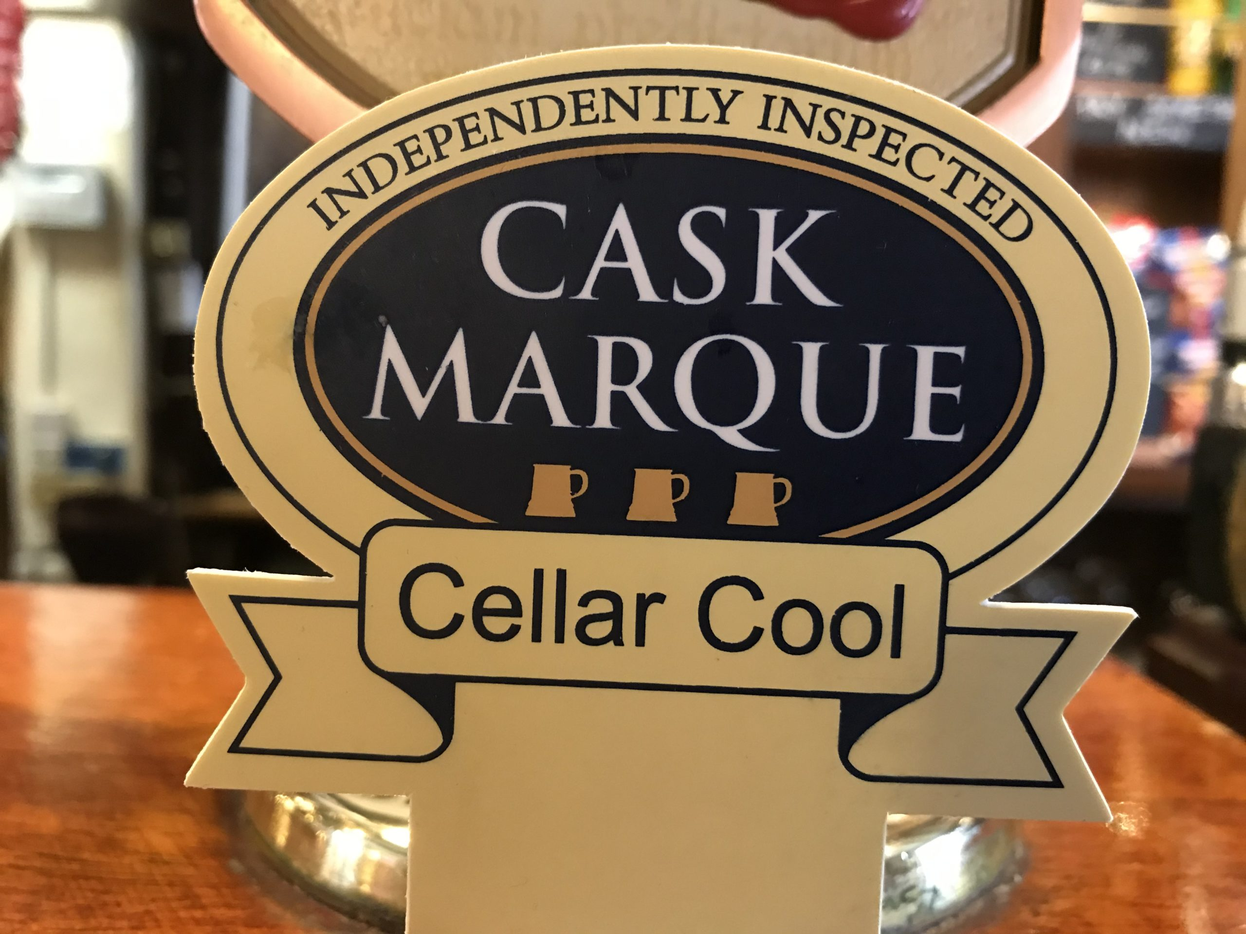 Approved Cask Marque Cellar cool at the Pykkerell inn