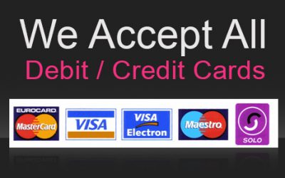 We accept all mayor debit/credit cards at the courtyard cafe